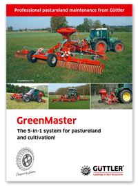Güttler GreenMaster - the 5-in-1 system for pastureland and cultivation - Broschures
